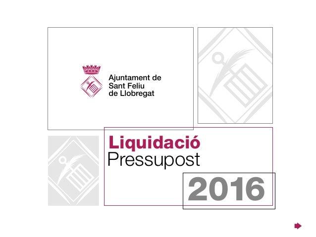 Pressupost Liquidació 2016