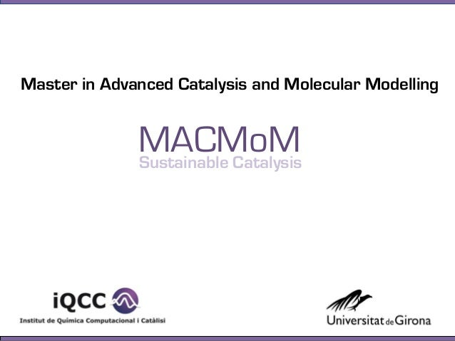 Master in Advanced Catalysis and Molecular ModellingSustainable CatalysisMACMoM