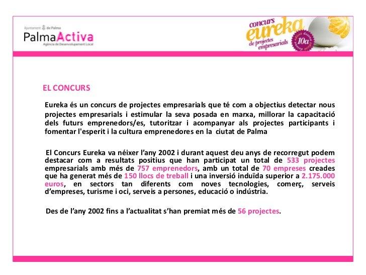 PalmaActiva: Presentacio eureka 2012 - dossier de premsa Slide 2