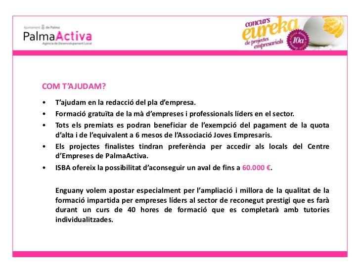 PalmaActiva: Presentacio eureka 2012 - dossier de premsa Slide 3