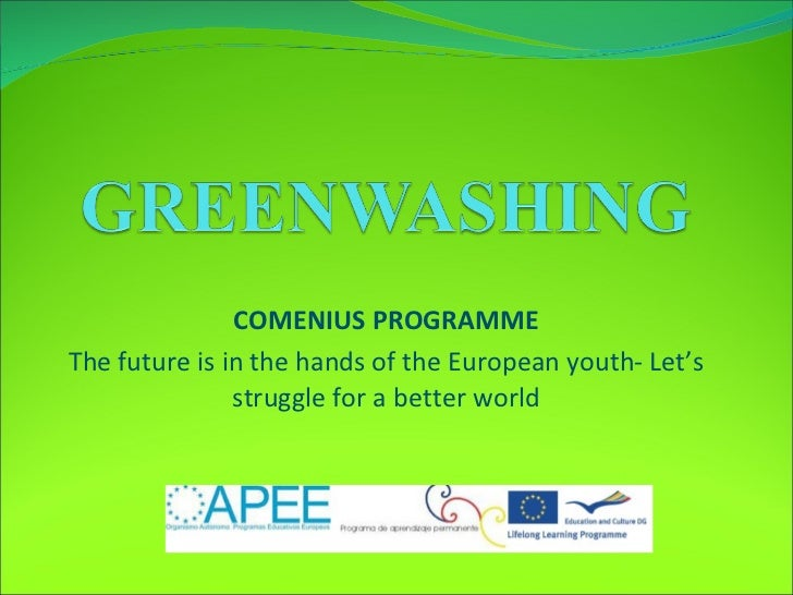 COMENIUS PROGRAMME The future is in the hands of the European youth- Let's struggle for a better world