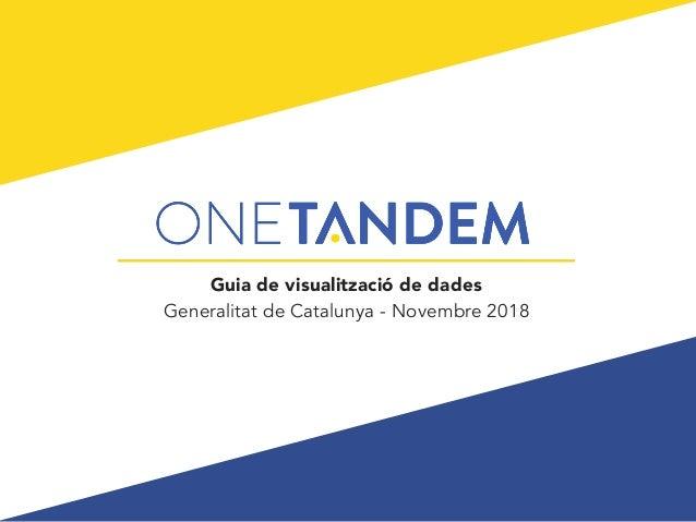 Guia de visualització de dades Generalitat de Catalunya - Novembre 2018