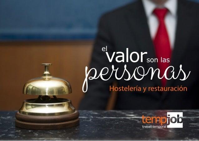 Tempjob ETT :: El valor son las personas :: Hostelería y restauración