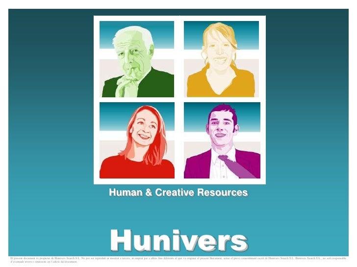 Human & Creative Resources                                                                                  HuniversEl pre...