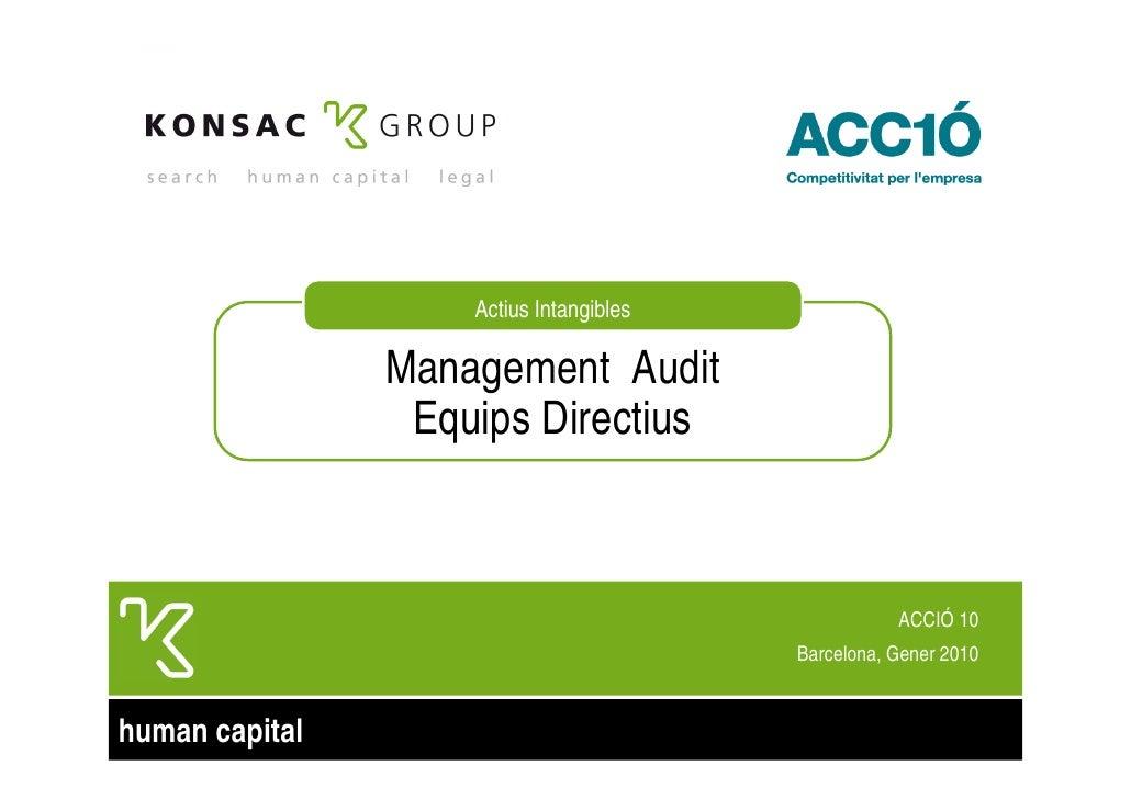 Actius Intangibles                  Management Audit                  Equips Directius                                    ...