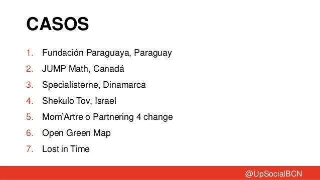 CASOS1. Fundación Paraguaya, Paraguay2. JUMP Math, Canadá3. Specialisterne, Dinamarca4. Shekulo Tov, Israel5. Mom'Artre o ...