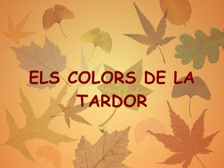 ELS COLORS DE LA TARDOR