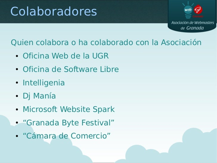Presentacion de la asoc de webmasters curso 09 10 for Oficina de practicas ugr