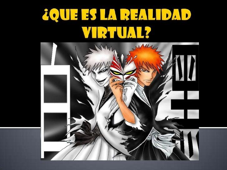 ¿Que es la realidad virtual?<br />