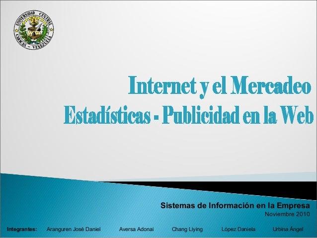 Sistemas de Información en la Empresa Noviembre 2010 Aranguren José Daniel Aversa Adonai Chang Liying López Daniela Urbina...