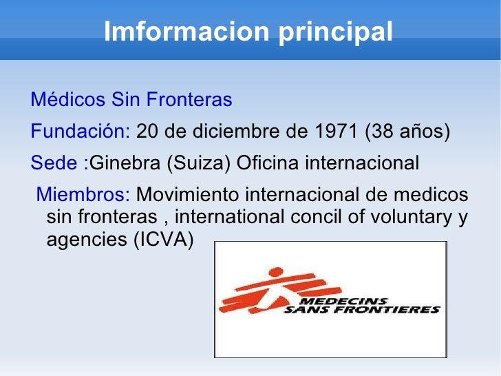 M dicos sin fronteras for Salida de la oficina internacional de origen aliexpress