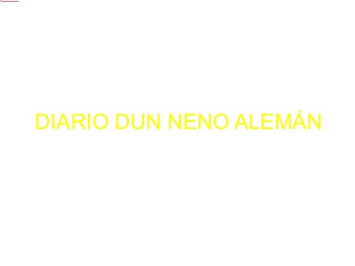 DIARIO DUN NENO ALEMÁN