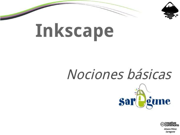 Inkscape   Nociones básicas