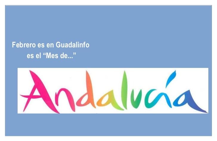"""Febrero es en Guadalinfo  es el """"Mes de..."""""""