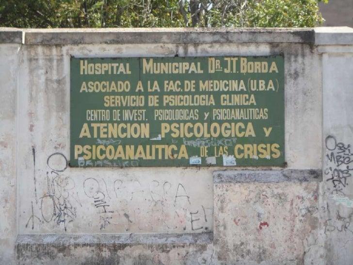 Los gruesos paredones del Hospital Borda y del Moyano, ubicado enfrente, dominan la                          manzana del b...