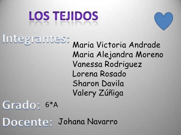 Maria Victoria Andrade         Maria Alejandra Moreno         Vanessa Rodriguez         Lorena Rosado         Sharon Davil...