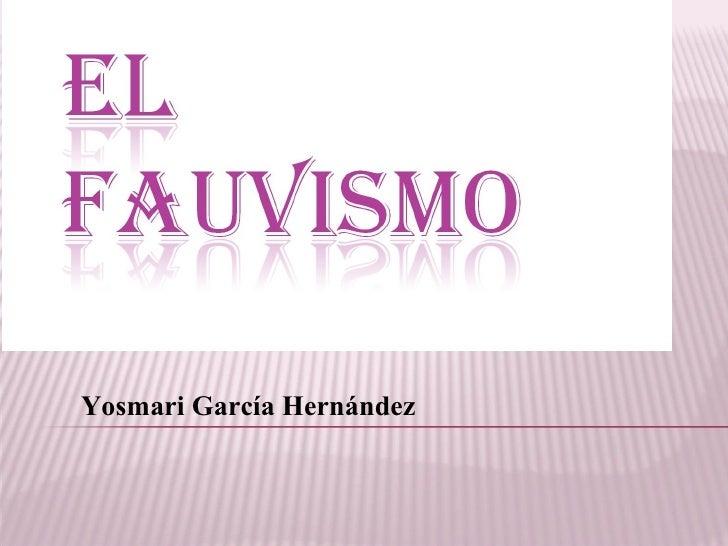 Yosmari García Hernández