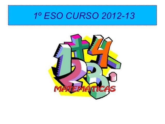 1º ESO CURSO 2012-13