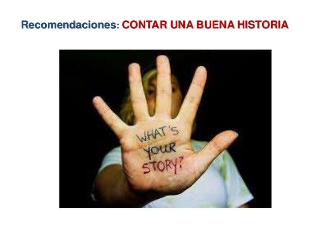 Recomendaciones: CONTAR UNA BUENA HISTORIA