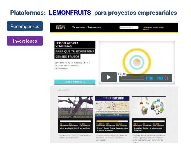Plataformas: LEMONFRUITS para proyectos empresariales Recompensas Inversiones