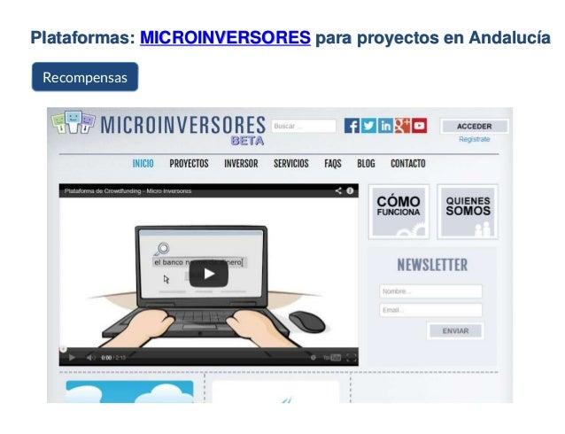 Plataformas: MICROINVERSORES para proyectos en Andalucía Recompensas