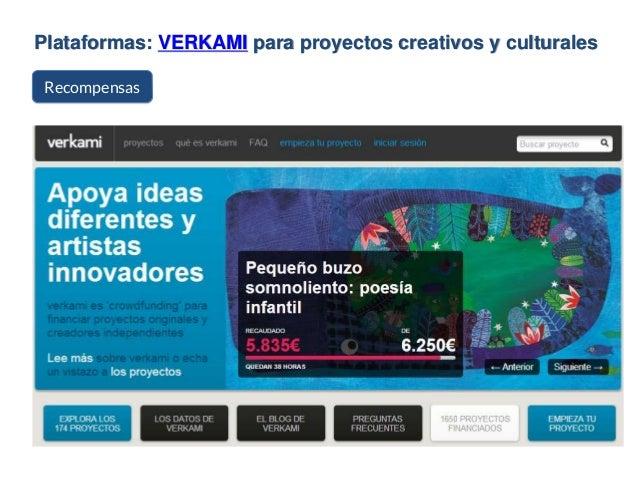Plataformas: VERKAMI para proyectos creativos y culturales Recompensas