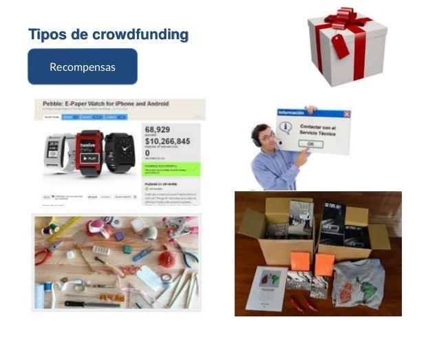 Tipos de crowdfunding Recompensas