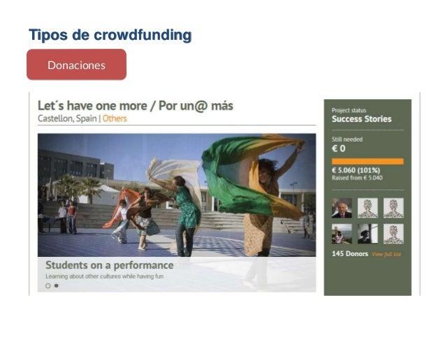 Tipos de crowdfunding Donaciones
