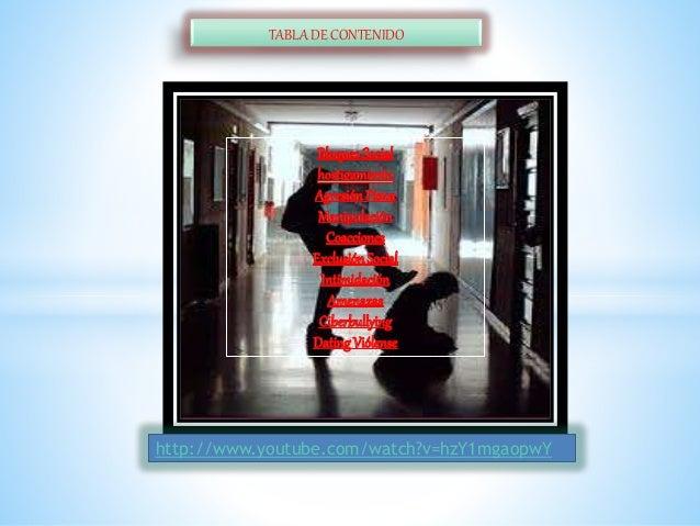 TABLA DE CONTENIDO http://www.youtube.com/watch?v=hzY1mgaopwY