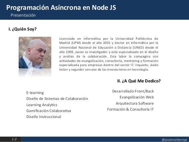 Programación Asíncrona en Node JS Slide 2