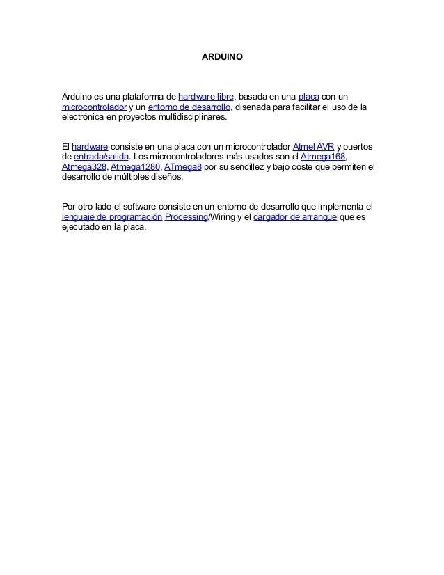 Presentacion arduino pdf