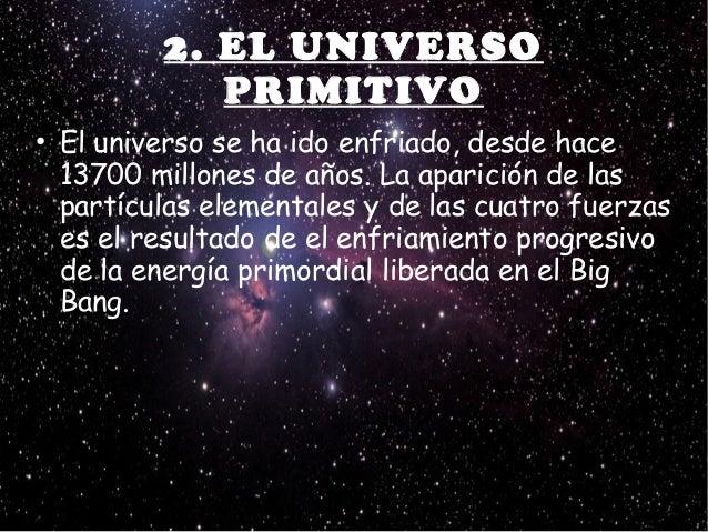 Resultado de imagen de El Universo primitivo