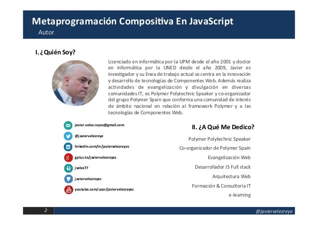Metaprogramación Compositiva en JavaScript Slide 2