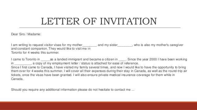 Superb Invitation Letter For Visa Invitation Letter For Canadian Visa Template  Peoplesoft Doc 100 30