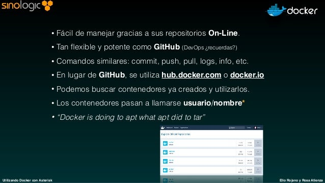 Usando Docker con sistemas Asterisk