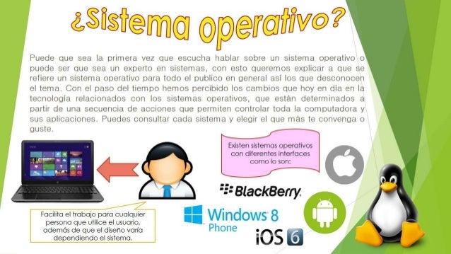 ¿QUE ES UN SISTEMA OPERATIVO COMO INTERFAZ? Un sistema operativo como interfaz presenta diferentes características y venta...