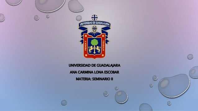 UNIVERSIDAD DE GUADALAJARA ANA CARMINA LONA ESCOBAR MATERIA: SEMINARIO II