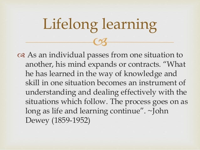 informal learning lifelong learning and online teaching