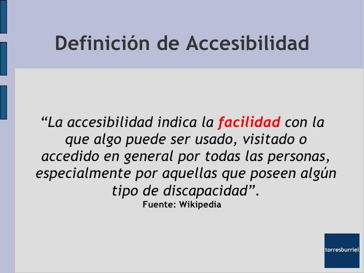 presentacion accesibilidad web On accesibilidad definicion