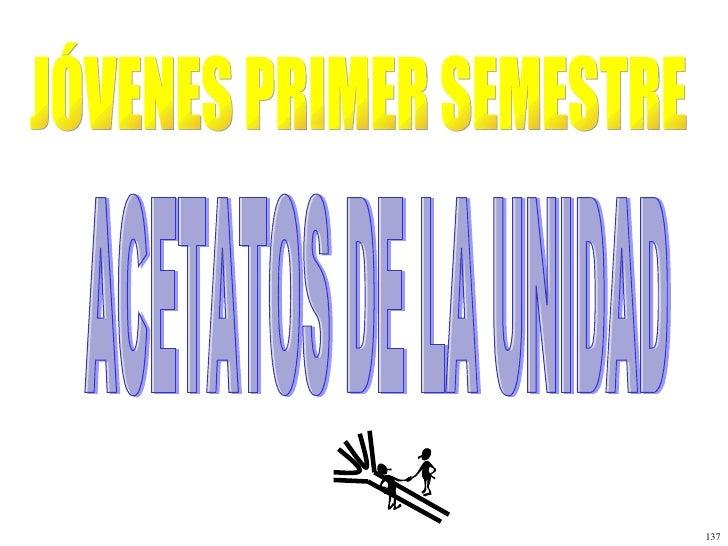 JÓVENES PRIMER SEMESTRE ACETATOS DE LA UNIDAD 137