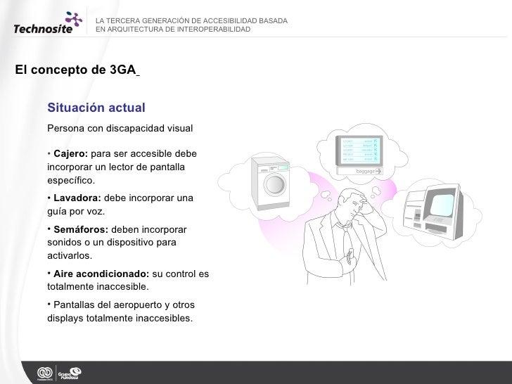 LA TERCERA GENERACIÓN DE ACCESIBILIDAD BASADA  EN ARQUITECTURA DE INTEROPERABILIDAD El concepto de 3GA   Situación actual ...