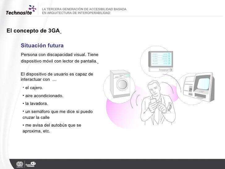 LA TERCERA GENERACIÓN DE ACCESIBILIDAD BASADA  EN ARQUITECTURA DE INTEROPERABILIDAD El concepto de 3GA   Situación futura ...