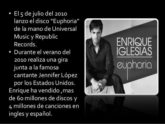 """• El 5 de julio del 2010lanzo el disco """"Euphoria""""de la mano de UniversalMusic y RepublicRecords.• Durante el verano del201..."""