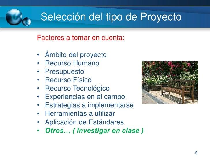 Todo proyecto tiene tres «momentos»</li></ul>Estudio Preliminar<br />Selección de soluciones<br />Control y finalización<...