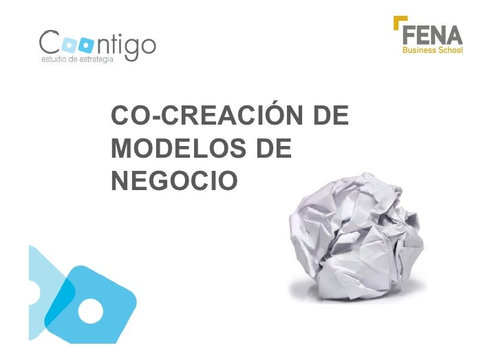 CO-CREACIÓN DEMODELOS DENEGOCIO
