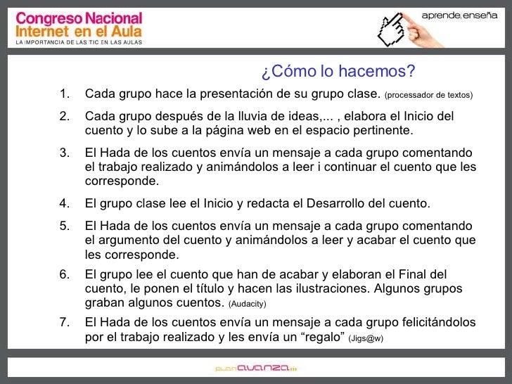 ¿Cómo lo hacemos? <ul><li>Cada grupo hace la presentación de su grupo clase.  (processador de textos) </li></ul><ul><li>Ca...
