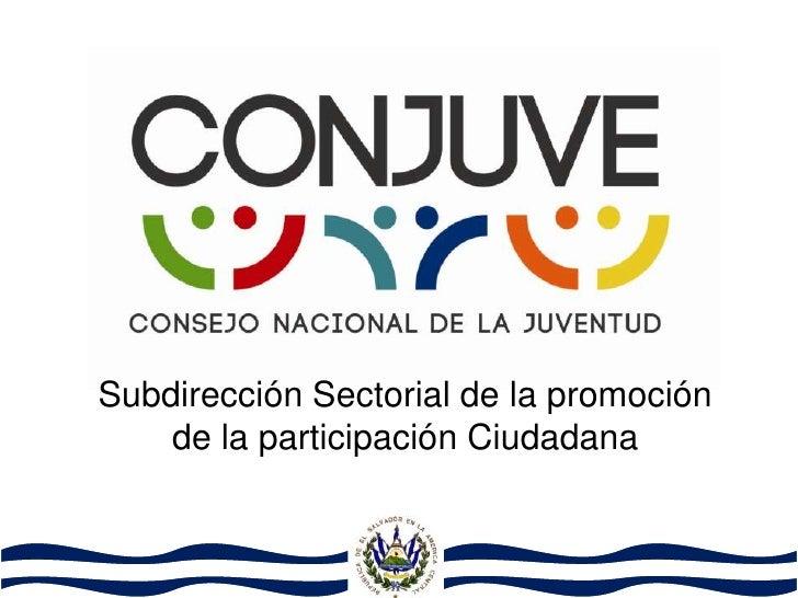 Subdirección Sectorial de la promoción    de la participación Ciudadana