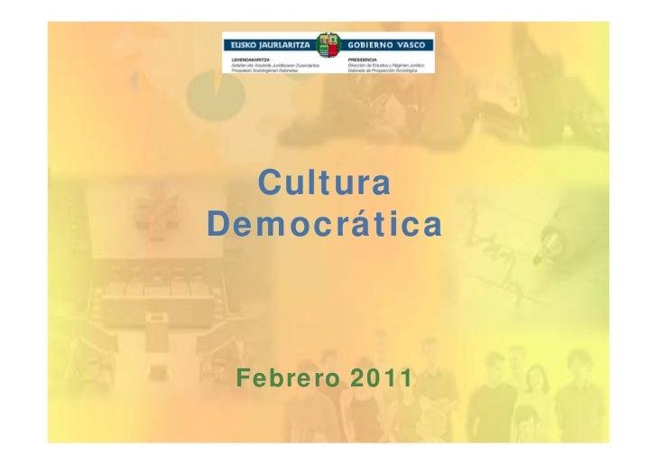 CulturaDemocrática Febrero 2011