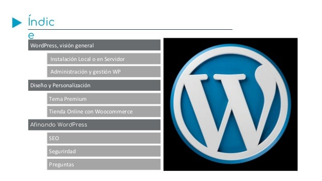 Curso de WordPress Cámara de Sevilla Mayo 2018