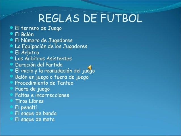 Presentacion de futbol for Regla de fuera de juego en futbol